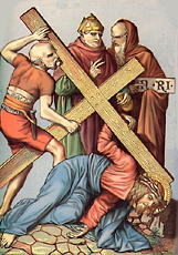 Ninth Station of the Cross (Artist Unknown)