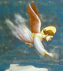 An Angel from a painting titled The Dream of Joachim, by Giotto c. 1305