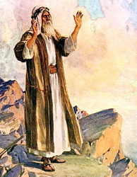 Moses Praying, Painted by J. H. Hartley
