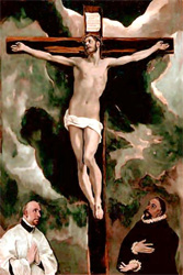 Christ on a Cross by Jacopo Robusti Tintoretto (1590)