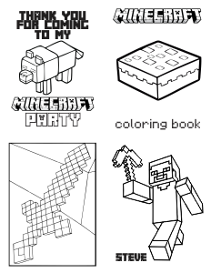 minecraft mini coloring book page 1