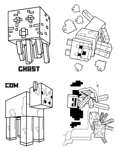 minecraft mini coloring book page 1 minecraft mini coloring book page 2