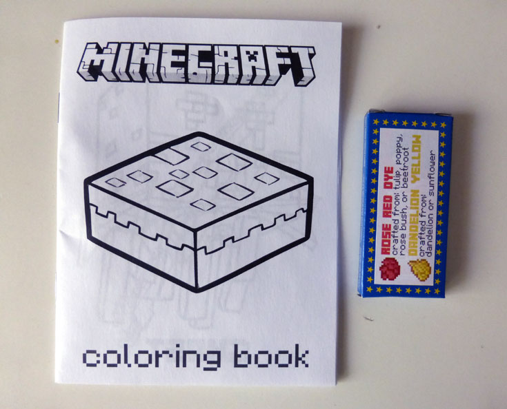 minecraft party favor mini coloring books