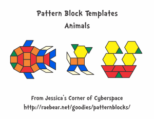 Pattern block templates from jessicas corner of cyberspace animals pronofoot35fo Choice Image