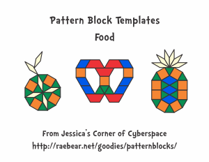 Pattern block templates from jessicas corner of cyberspace food pronofoot35fo Choice Image
