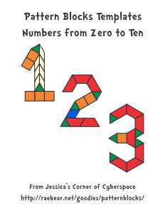 Pattern block templates from jessicas corner of cyberspace numbers designs pronofoot35fo Choice Image